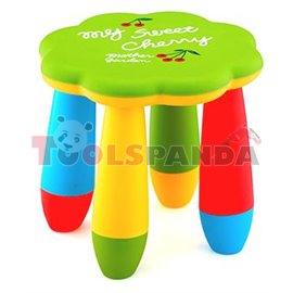 Детско столче пластмасово цвете зелено