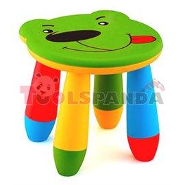 Детско столче пластмасово мече зелено