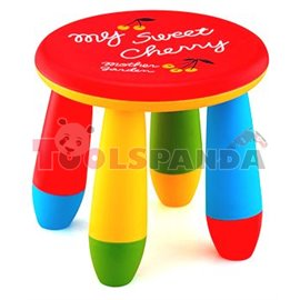 Детско столче пластмасово кръг червен