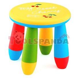 Детско столче пластмасово кръг жълт
