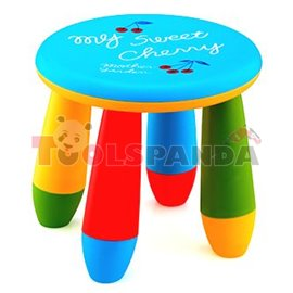 Детско столче пластмасово кръг син