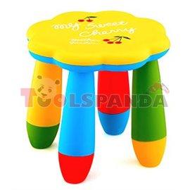 Детско столче пластмасово цвете жълто