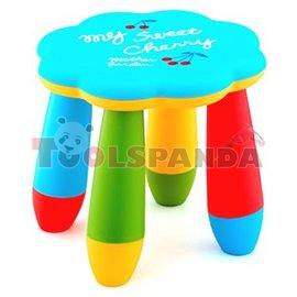 Детско столче пластмасово цвете синьо