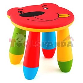 Детско столче пластмасово мече червено