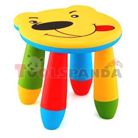 Детско столче пластмасово мече жълто