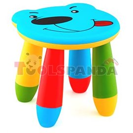 Детско столче пластмасово мече синьо