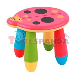 Детско столче пластмасово калинка червена