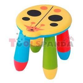 Детско столче пластмасово калинка жълта
