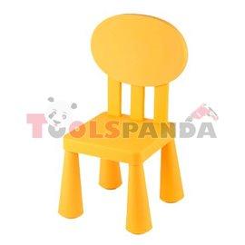 Детско столче с овална облегалка жълто
