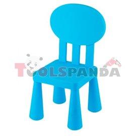 Детско столче с овална облегалка синьо