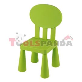 Детско столче с овална облегалка зелено