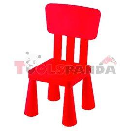 Детско столче с облегалка червено