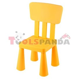 Детско столче с облегалка жълто