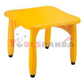 Маса детска квадратна жълта