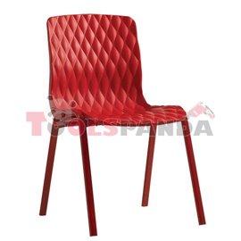 "Стол червен ""ROYAL"" 52x50x83см."
