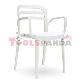 "Стол с подлакътник бял ""ASPENDOS"""