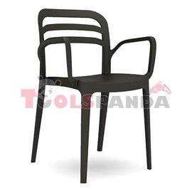 """Стол с подлакътник черен """"ASPENDOS"""""""