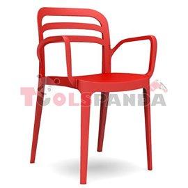 "Стол с подлакътник червен ""ASPENDOS"""