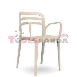 "Стол с подлакътник пясъчно бежово ""ASPENDOS"""