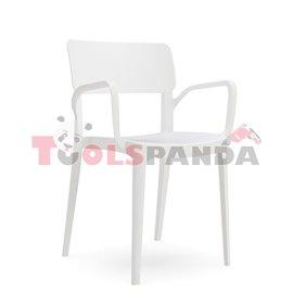 """Стол с подлакътник бял """"PANORA"""""""