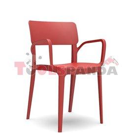 """Стол с подлакътник червен """"PANORA"""""""