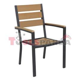 Стол с подлакътник натурал 60x57x89см.