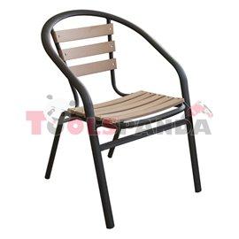 Стол с подлакътник 52x56x73см.