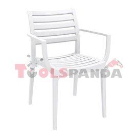 Стол с подлакътник бял ARTEMIS