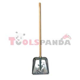 Лопата метална за сняг поцинкована с дръжка