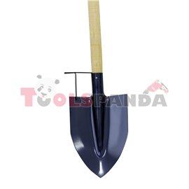 Лопата права с дръжка и допълнителна степенка