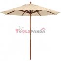 Чадър градински / плажен 3м. с дървен