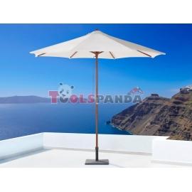 Чадър градински / плажен с дървена основа 300x260см. | DE GARDEN