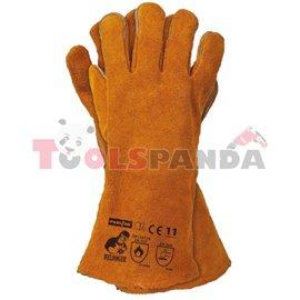 Ръкавици заваръчни телешка кожа с резистентност 4143 2 броя к-т
