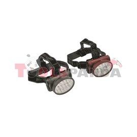 Фенер за глава с осветление LED 13 диода с поставка, кабел за зареждане и лента за глава