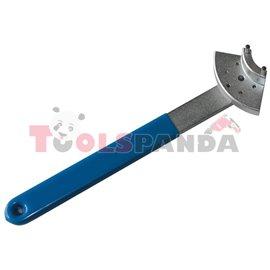 Специализиран инструмент за обтягане ангренажен ремък на VAG двигатели с регулируем гаечен ключ в пет позиции.