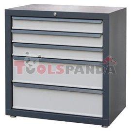 Шкаф за инструменти с 5 чекмеджета 680x458x720 мм.