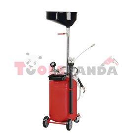 Уред за източване на масло от двигатели с обем на резервоара 90 литра.
