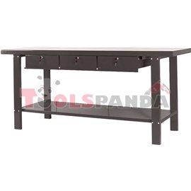 Работна маса с рафт и 3 чекмеджета, работен плот с големина 865 х 2000 х 640 мм.