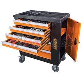 Количка с инструменти 6 чекмеджета 142 части | Gadget
