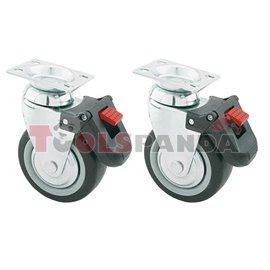 Колелца за количка със спирачки 2 броя