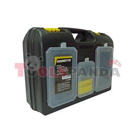 Куфар за инструменти с органайзер, пластмасов | KONEKTO