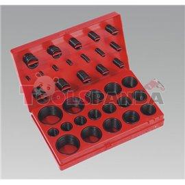 Пръстени уплътнителни гумени О-пръстени в куфарче 419 броя к-т | SEALEY