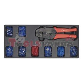 Клещи кримпващи за електрически кабели с кабелни обувки в кутия   SEALEY