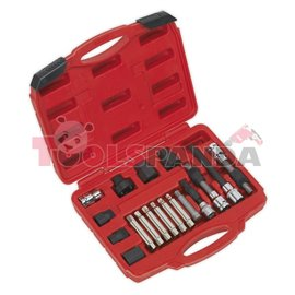 Комплект за демонтаж/монтаж шайбата на алтернатора 18 броя к-т | SEALEY