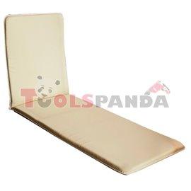 Възглавница за дървен шезлонг бежова 190х56см.