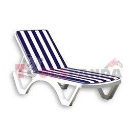 Възглавница за шезлонг синьо/бяло рае