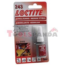 Лепило осигурител на резби с общо предназначение и средна якост 5мл. | LOCTITE