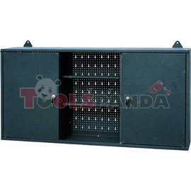 Шкаф за инструменти с 2 крила и вратички сив (заключващи се) 120x60x20см. | PROFITOOL