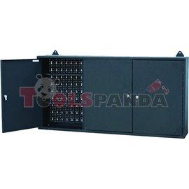 Шкаф за инструменти с 3 крила и вратички сив (заключващи се) 120x60x20см. | PROFITOOL