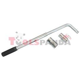 Ключ за джанти телескопичен с двойни вложки 17x19х21x23мм. | PROFITOOL